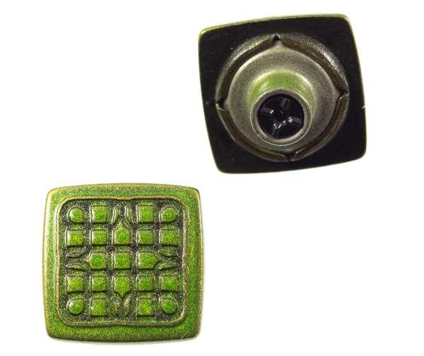 Jeansknöpfe Quadrat nj-60-grasgrün