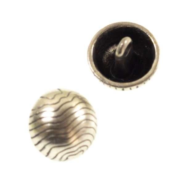 Halbkugel Metallknöpfe mk-70-altsilber