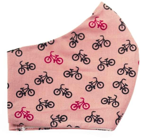 Damen Mund - Nasen Masken altrosa Fahrräder