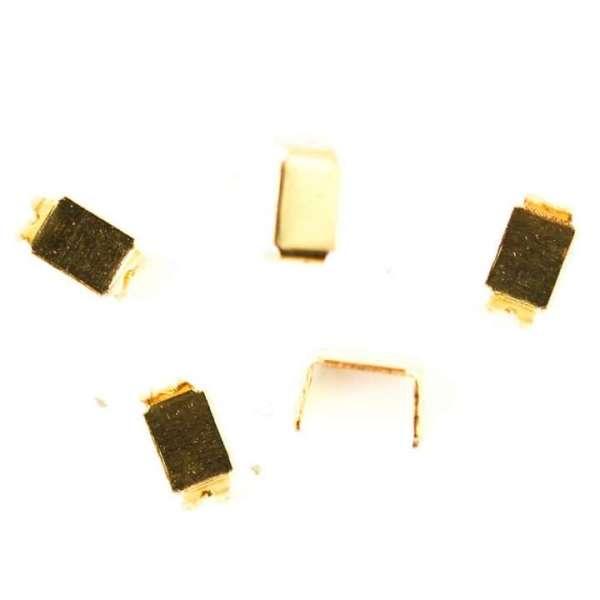 Reißverschluss Enden gold