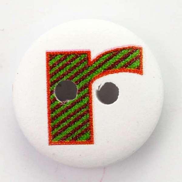 Buchstabenknöpfe Holzknöpfe HK-41-R
