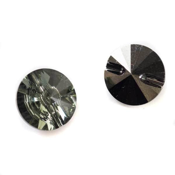 Knöpfe von Swarovski® crystal sTs-3015-black-diamond