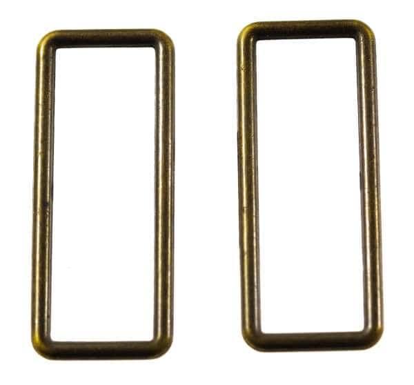 D - Rechteck Ringe aus Metall altgold für Taschen und Gürtel