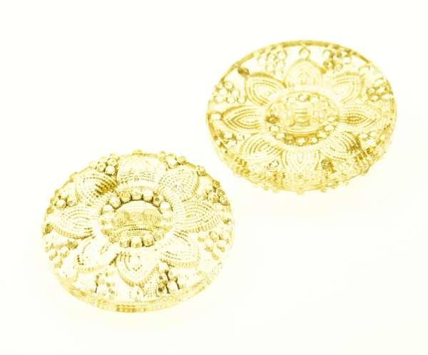 Blüten Knöpfe transparent KD-18-gelb
