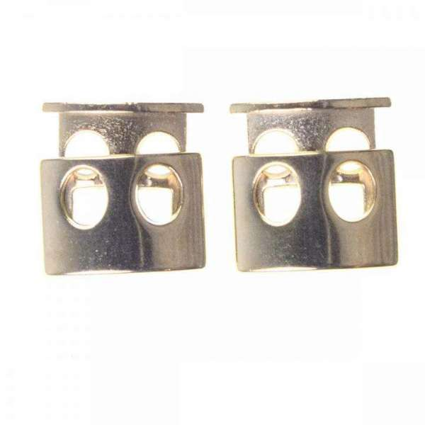 Kordelstopper 2 Loch metall gold KOST-21g