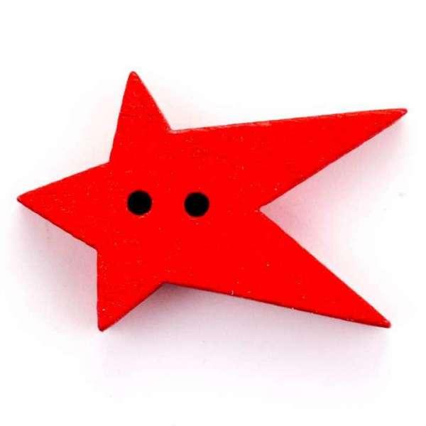 Weihnachtsknöpfe Knöpfe Sternschnuppe rot