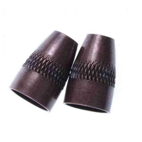 Kordelenden aus Metall kupfer KOE-9k