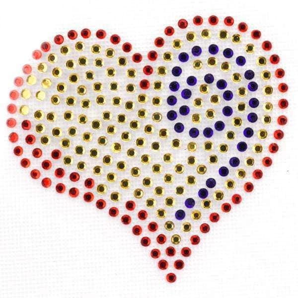 Applikationen Straßapplikation Bügelbild Herz