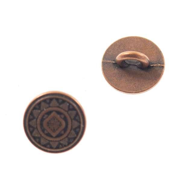 Trachten Knopf mit Sternförmigen Muster tk-15-kupfe