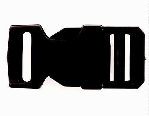 Patentschnalle schwarz