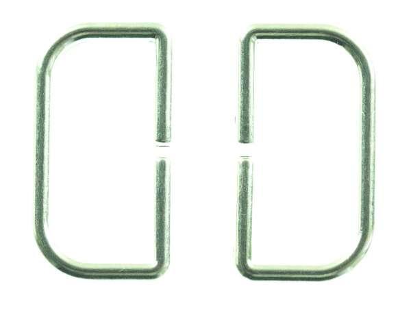 D - Ringe aus Metall silber glänzend für Taschen und Gürtel