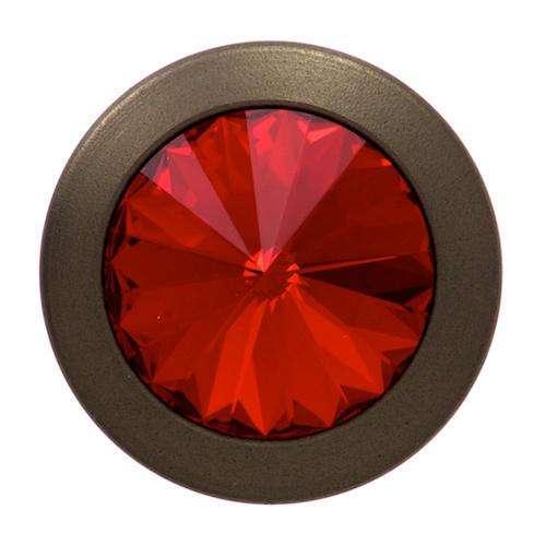 Jeansknöpfe mit Strass Kristall bronze rot