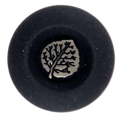 Trachtenknöpfe mit Blattmotiv TK-161 schw