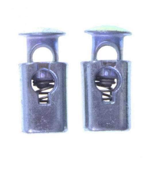 Kordelstopper used silber metall KOST-12s