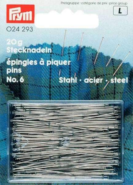 Stecknadeln, Stahl gehärtet 30 x 0,60 mm