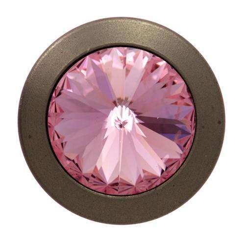 Jeansknöpfe mit Strass Kristall altsilber rosa