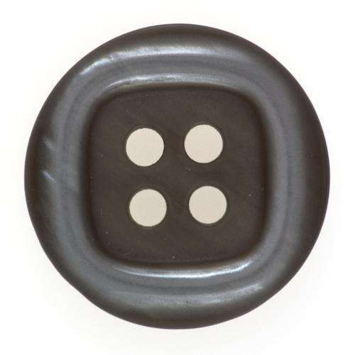 Knöpfe mit schimmerndem Rand grau KG-73