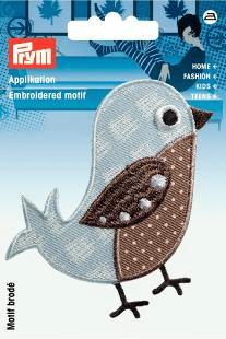 Applikation Vogel braun AP-924210