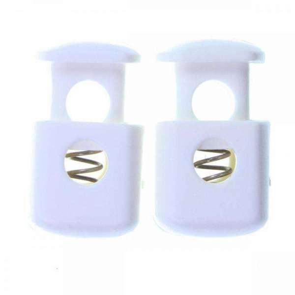 Kordelstopper weiß Kunststoff KOST-1w