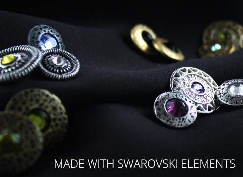 Trachtenknöpfe mit Swarovski Elements