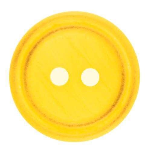 Knöpfe mit Doppelrand gelb KGL-25