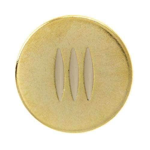 Metallknöpfe mit Streifenmuster MK-381g 5n