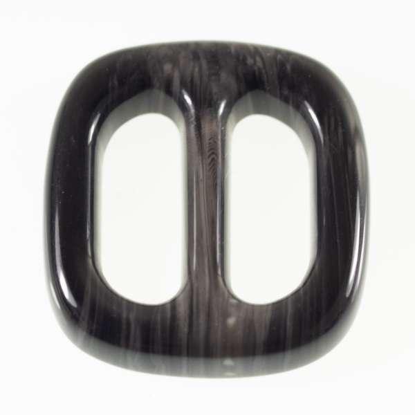 Gürtelschnallen kaufen! Hornimitat Schnallen s-hi-9-schwarz-grau