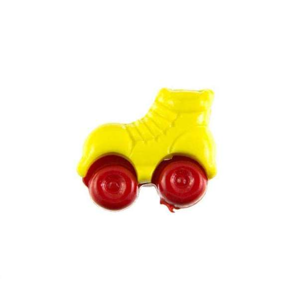 Kinderknöpfe kaufen Rollschuhe-KK-150-gelb-2