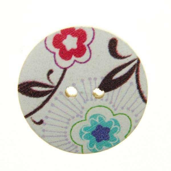 Holzknöpfe kaufen mit Blume HK-249