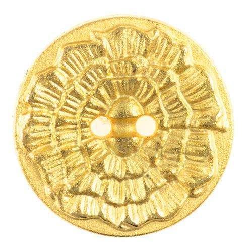 Knöpfe mit Blütenmuster gold TK-138