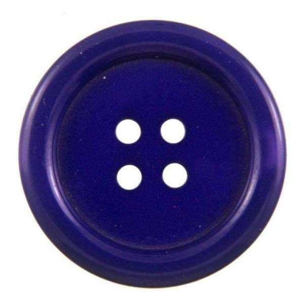 Knöpfe blau mit Rand KBL-180