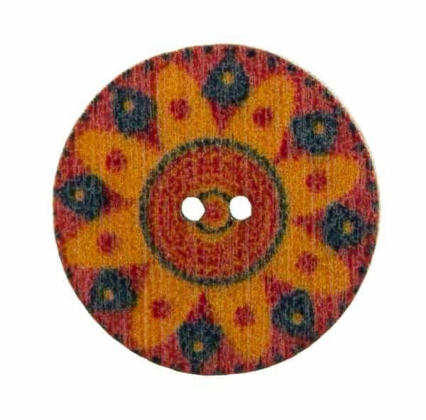 Holzknopf Mandala Muster hk-203-11