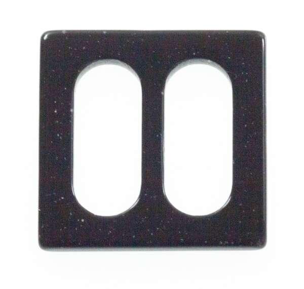Transparente Schnalle Edel rechteckig schwarz glänzend