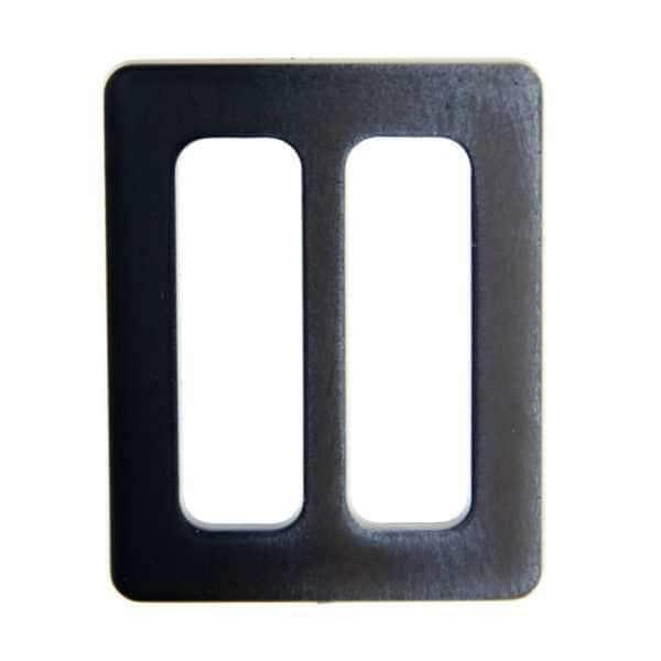 Gürtelschnalle S-8 grau schwarz