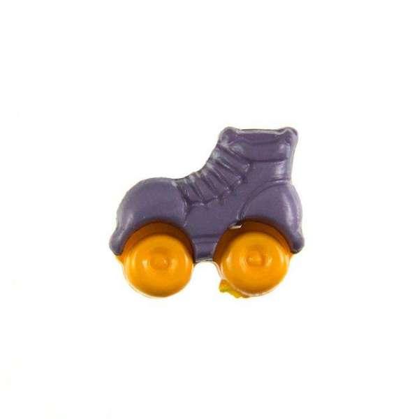 Kinderknöpfe kaufen Rollschuhe-KK-150-lila-5
