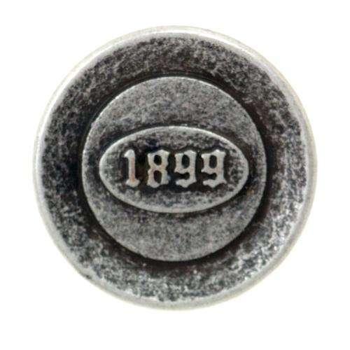 Rustikale Knöpfe Aufschrift 1899 MK-185as