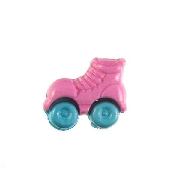 Kinderknöpfe kaufen Rollschuhe-KK-150-rosa-3