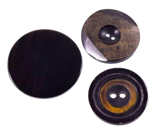 Echte Horn Knöpfe hk-so-126-50mm 50 mm 60mm