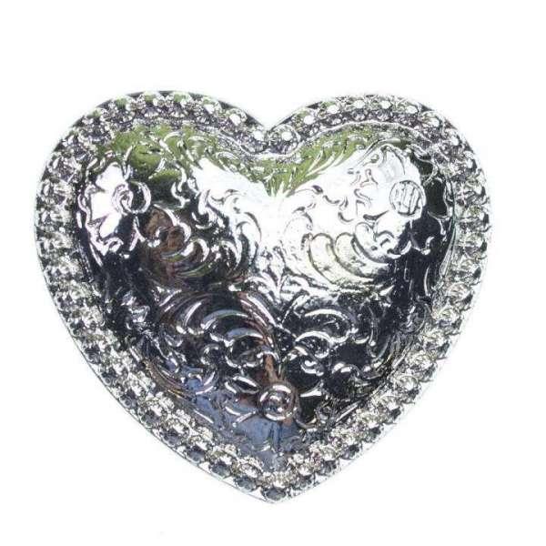 Herz Gürtelschnalle SM-SO-7-silber