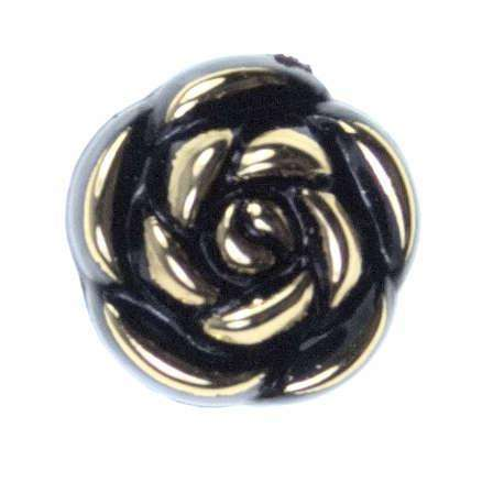 Blüten Knöpfe gold BL-12 schwarz gold