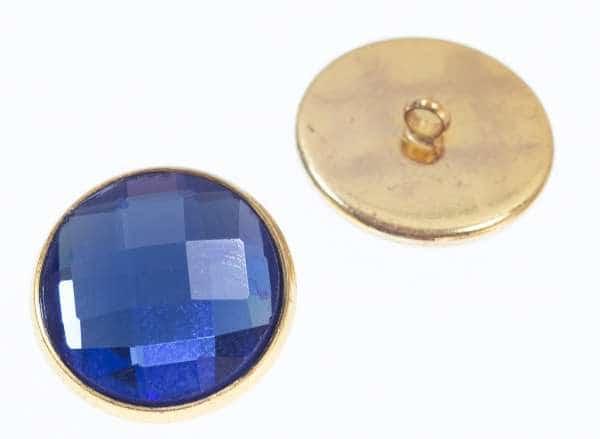 Knöpfe mit Glas Crystal st-200-gold-saphire