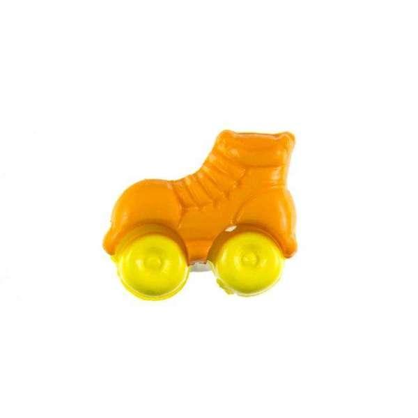 Kinderknöpfe kaufen Rollschuhe-KK-150-orange-4