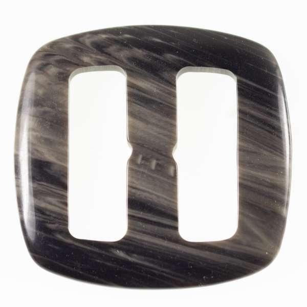 Gürtelschnallen kaufen! Hornimitat Schnallen s-hi-2-schwarz-grau
