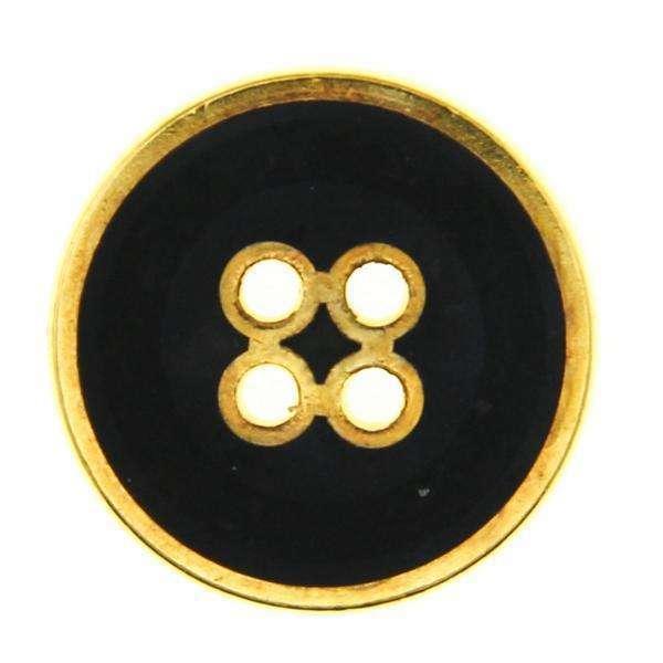 Metallknöpfe schwarz gold MK-366g schw