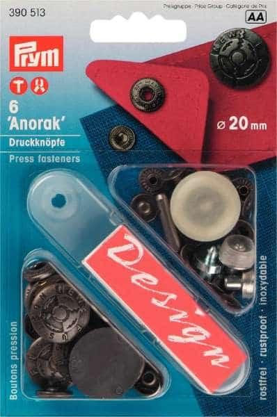 Druckknöpfe Anorak Fusion altsilber 20mm