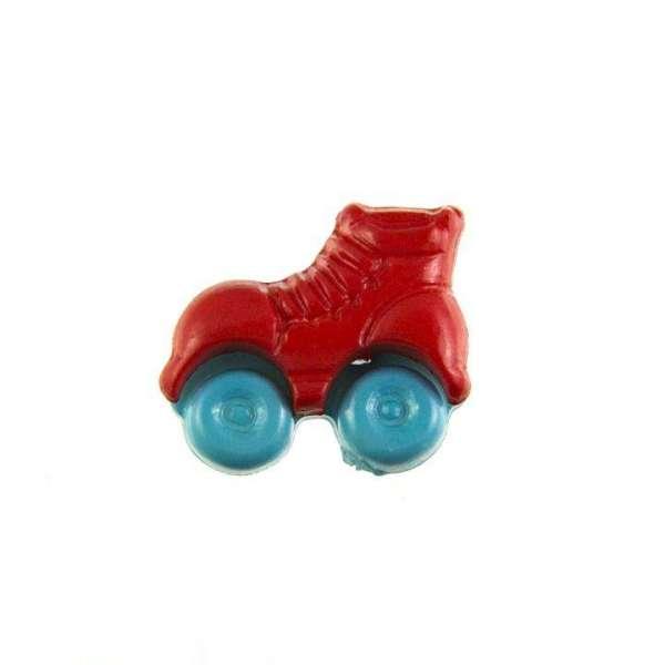 Kinderknöpfe kaufen Rollschuhe-KK-150-rot-4