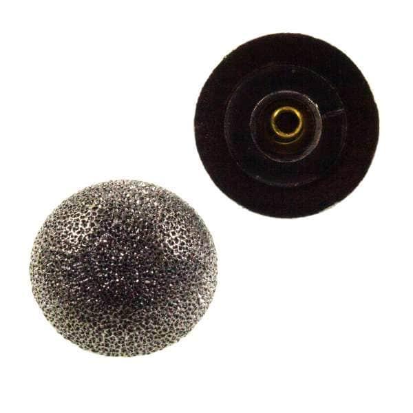 Druckknopf Halbkugel mit Diamant-Effekt nk-72-stahl