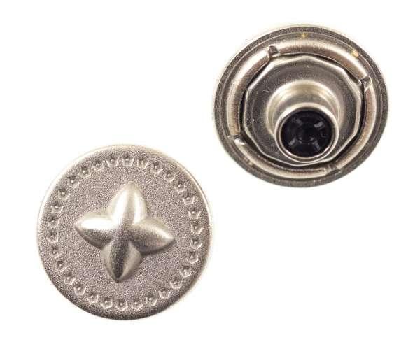 Jeansknöpfe Stern Muster nj-58-silber