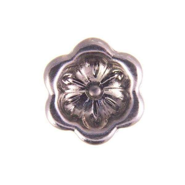 Knöpfe mit Blume silber BL-35s