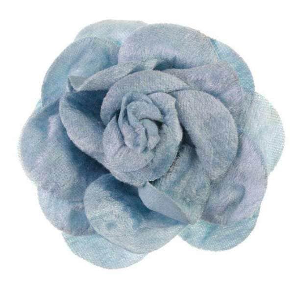Brosche/Haargummi Rose BRO-29blau